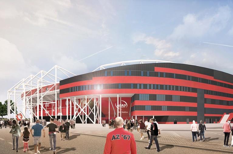 Nieuw dak AZ-stadion komt eraan: lichtmasten vervangen door LED-verlichting