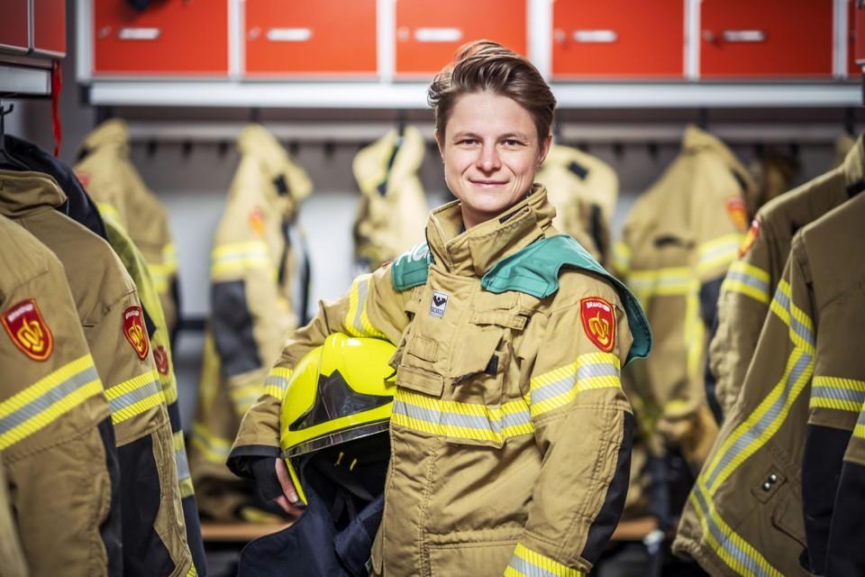 Brandweervrouw Phea Vrijdag is ook adviseur gevaarlijke stoffen.