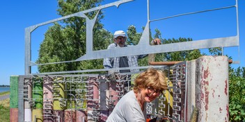 Kunstwerk Visserseiland krijgt aluminium jasje