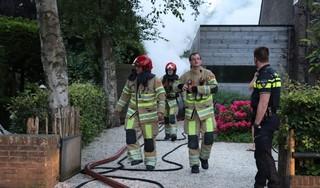 Uitslaande brand in schuur in Naarden
