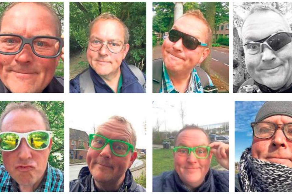 Een greep uit de zwerfbrillenverzameling van Dirk Groot.
