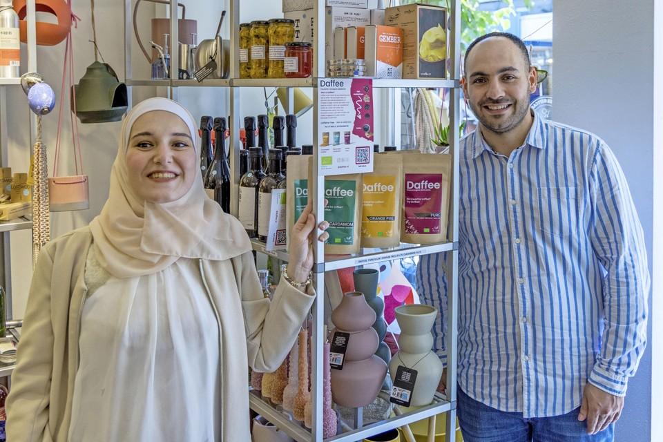 Tamim Allymoni (30) ontmoette in 2016 zijn bruid Rahaf Kbarh (28) via Facebook.