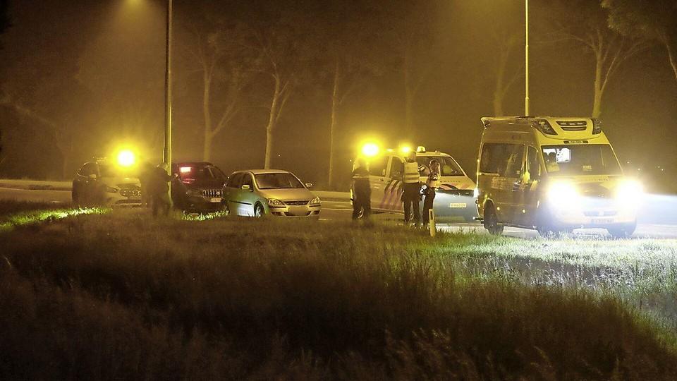 Een paar uur na het ongeluk werden vier mannen opgepakt op de N241 in Opmeer