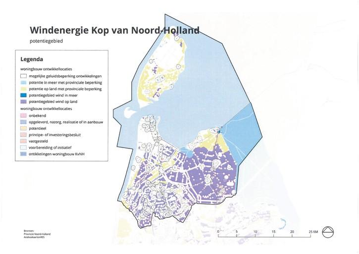 Deur open voor windmolens. Provincie lonkt naar de ruimte van de Noordkop om te voldoen aan eis van Klimaatakkoord. 'Industrieel platteland dreigt'