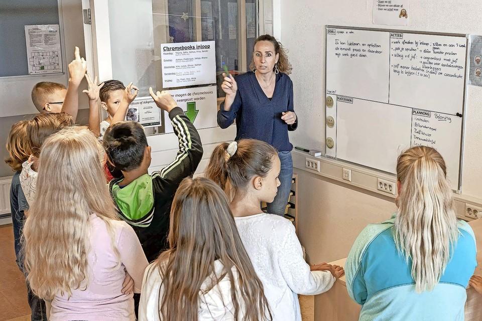 Les op basisschool de Klim-op in Purmerend.