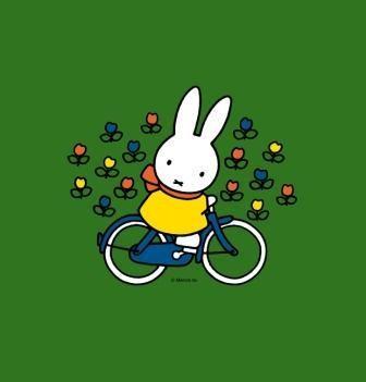 Nijntje op de fiets van Klein Amsterdam Producties.