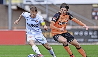 'Tweeënhalve maand zonder wedstrijden ga je wel voelen', zegt Frank Korpershoek na zijn rentree bij Telstar