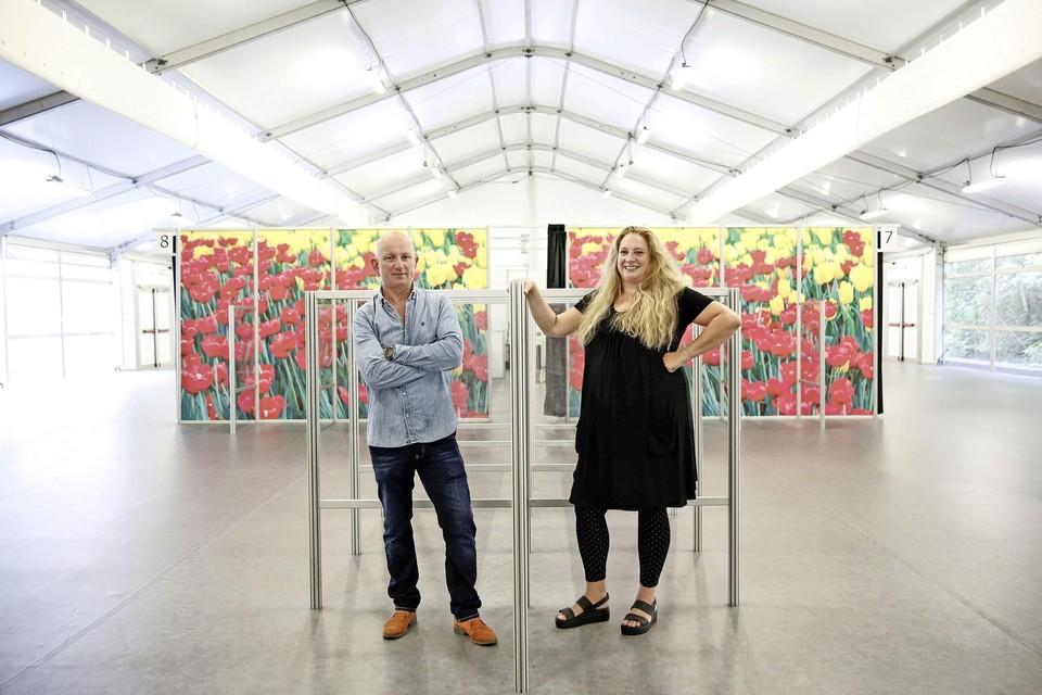 Kees Edink en Annet Mekkelholt, teamleiders van de vaccinatielocaties GGD Gooi en Vechtstreek