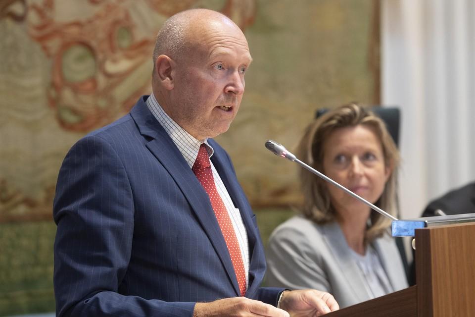 Erik Annaert in 2018 (toen naast zijn raadswerk in Hollands Kroon ook nog Statenlid) tijdens de presentatie van de profielschets voor een nieuwe commissaris van de Koning in Noord-Holland.