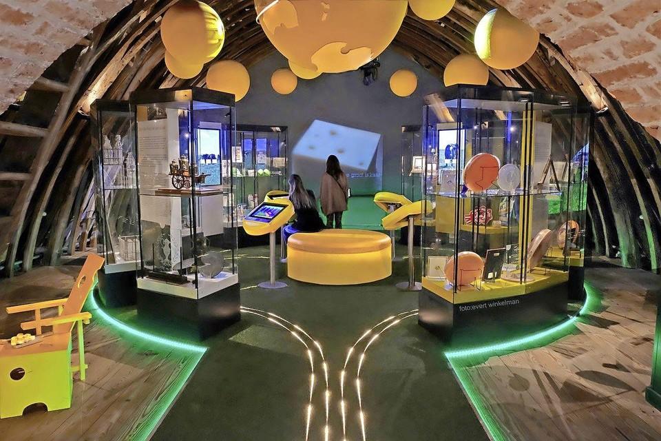 De nieuwe expositie op de tweede verdieping van het Kaasmuseum.