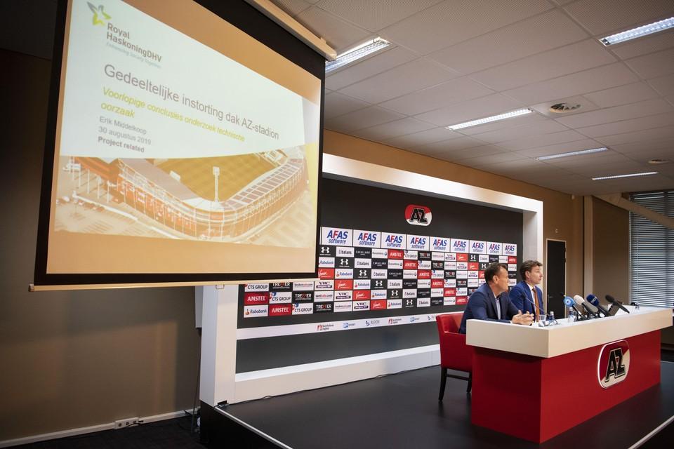 De persconferentie waarin de resultaten van het onderzoek bekend werden gemaakt.