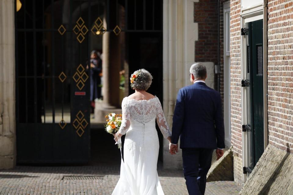 Burgemeester Jos Wienen en zijn geliefde Marian.