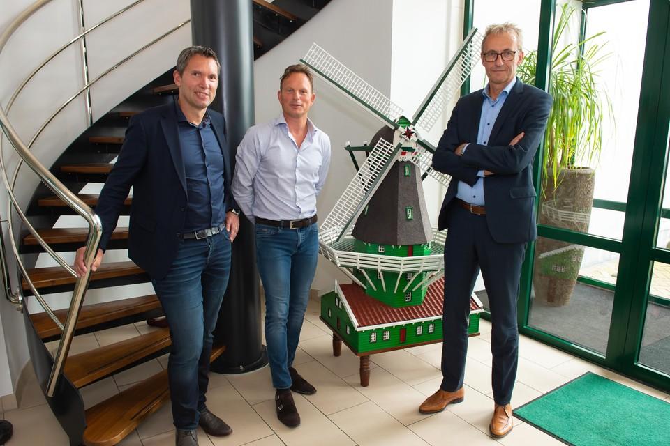 De initiatiefnemers van Zaancampus: vlnr: Bart-Jan Freriks (Engie), Michel van Wijngaarden (Zaanse mayonaise) en Gerbrand de Lange (OVO Zaanstad).