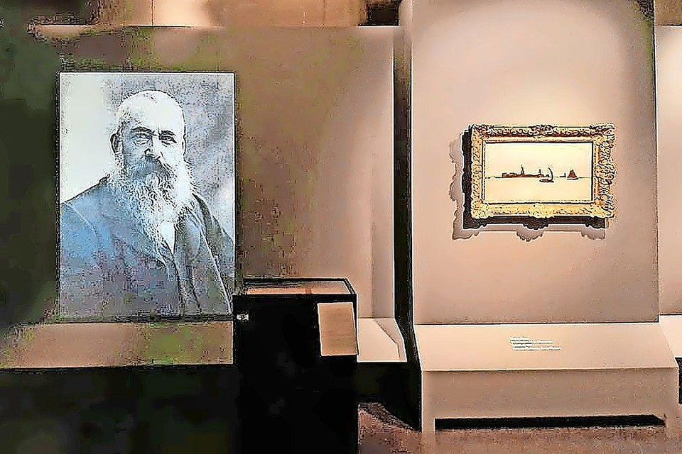 De expositieruimte met toen nog het schilderij.