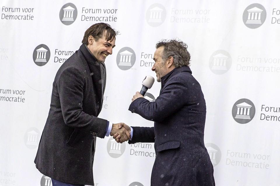 Van Haga (rechts) haalde in Zaanstad meer stemmen dan Baudet.