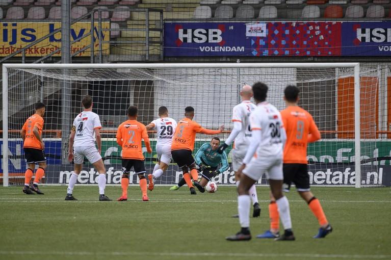 Jong Volendam legt nummer drie Katwijk op pijnbank maar blijft met lege handen achter [video]