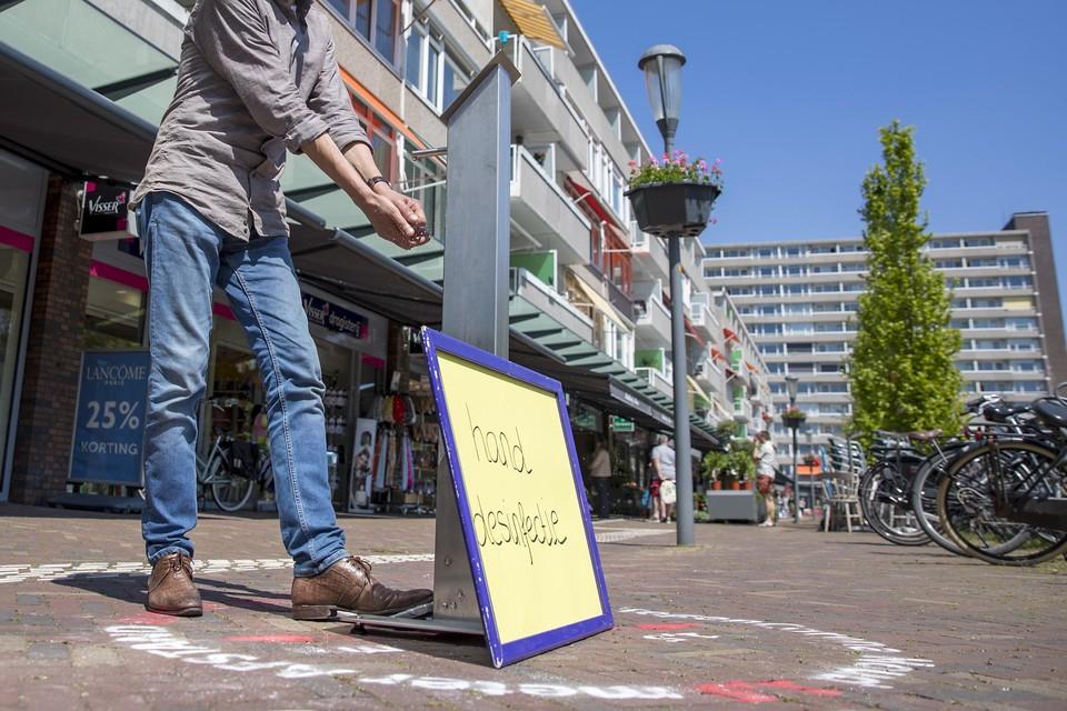 Een hygiënepaal in Alkmaar. Hoorn krijgt die ook.