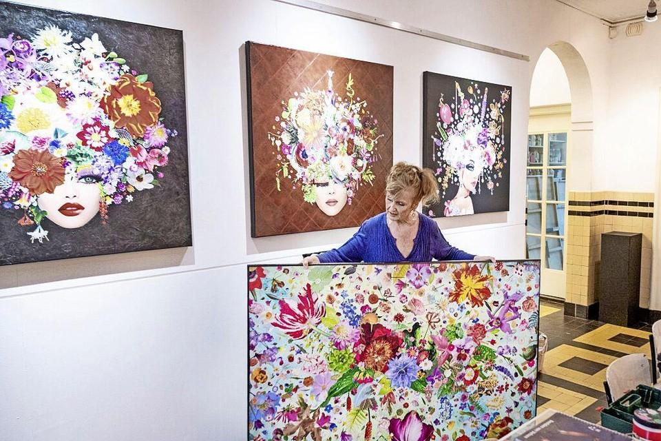 Milou Beugeling schildert als het ware met papier.