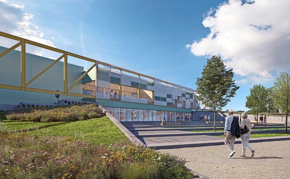 Een impressie van de sportvoorziening van Campus De Terp.