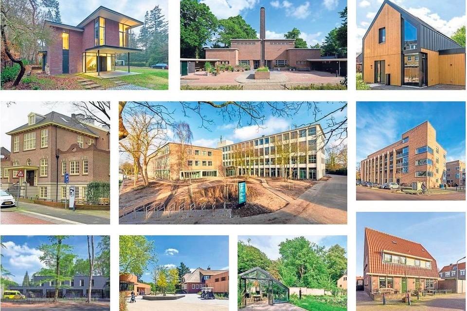 De tien genomineerde bouwwwerken