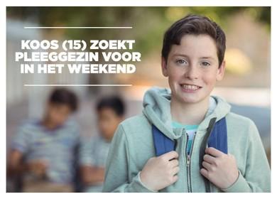 Weekendpleeggezin gezocht voor Koos (15) uit Haarlem