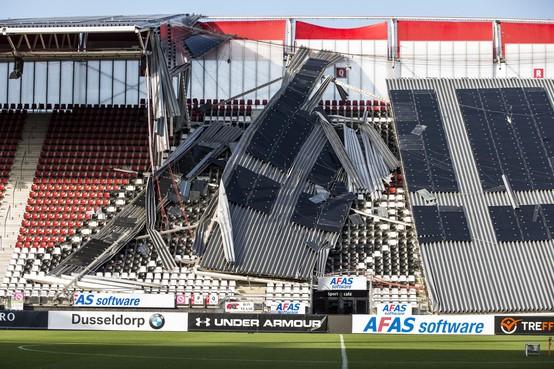 Veiligheidsraad: 'Groot risico dat resterende deel dak AZ-stadion bezwijkt door lasbreuken' [update]