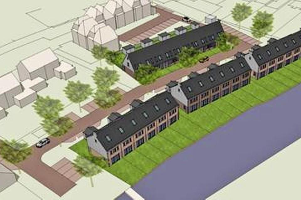 Het woningbouwplan in Oosthuizen.