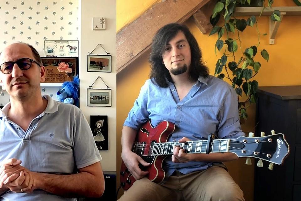 Jeroen Conijn (links) en Jeroen Duijvestijn: ,,Veel mensen denken dat we bij elkaar zaten om het filmpje op te nemen.''