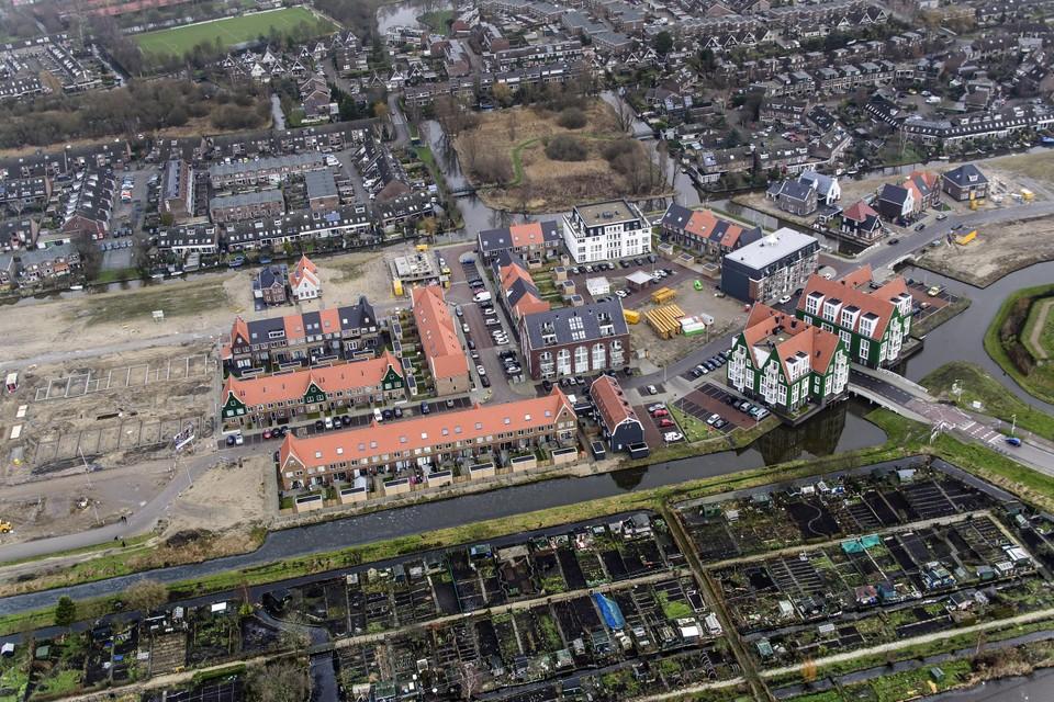 De bouw van wijk Luijendijk-Zuid in 2015.
