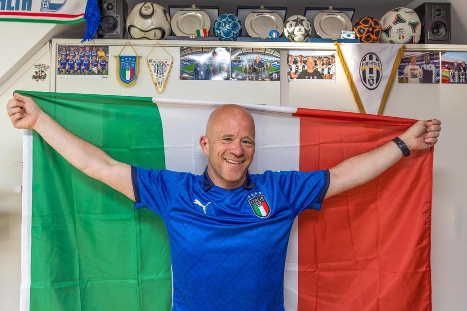Gino D'Onorio volgde Italië tijdens de groepsfase, hij ging naar de kwartfinale in München en zondag is hij erbij als de finale wordt gespeeld op Wembley, tegen Engeland.