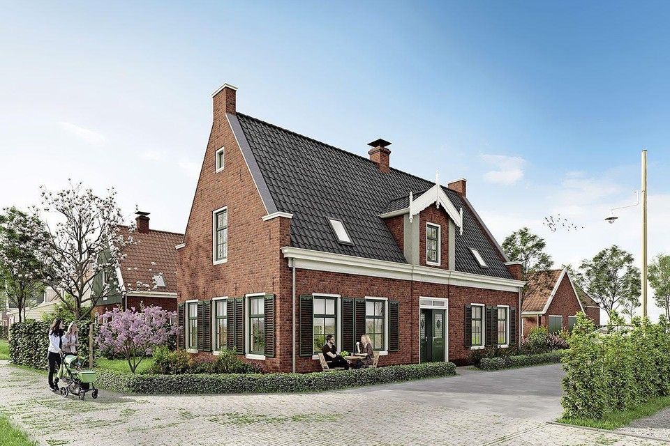 Impressie van bouwplan Stiereveld in Watergang.