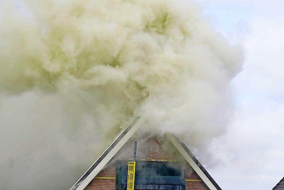 De rook- en waterschade heeft waarschijnlijk veel schade aangericht op de eerste etage die door Gerard Stok en zijn vrouw werd bewoond.