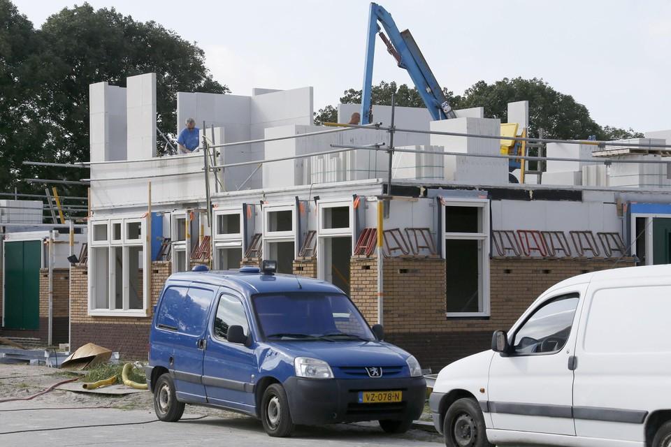 In het eerste half jaar van 2021 is de bouw gestart van 203 huizen, zoals hier in plan 't Zand-Noord.