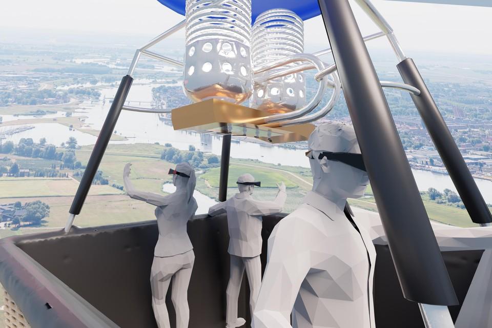 In een virtuele heteluchtballon over Baarn vliegen, wellicht kan het komend voorjaar ergens in een leegstaand winkelpand.