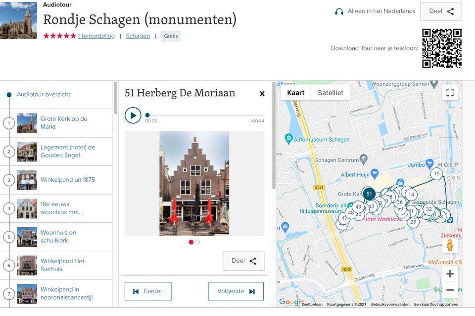 Digitaal langs de monumenten wandelen via de website izi.travel.
