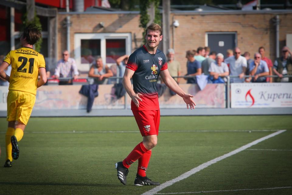 Jurre Duijn tekende tegen Alcides voor vier van de zeven treffers van De Zouaven.