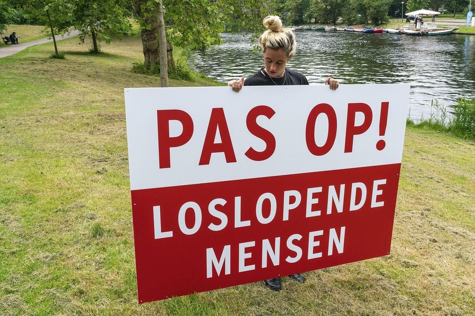 Jonge kunstenaars zijn belangrijk voor de stad, vindt de burgemeester. Op de foto werk van Circus Andersom.