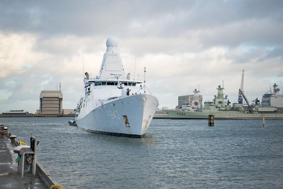 De Zr. Ms. Groningen is terug in de haven van Den Helder.