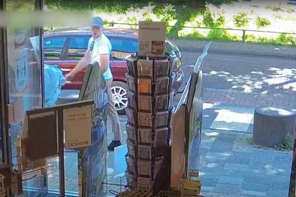 De politie verspreidde beelden van de kettingrukker.