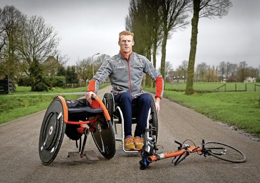 Rolstoelbreuk blokkeert Olympische droom Geert Schipper