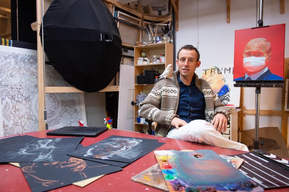 Kunstenaar Johannes Hogebrink.