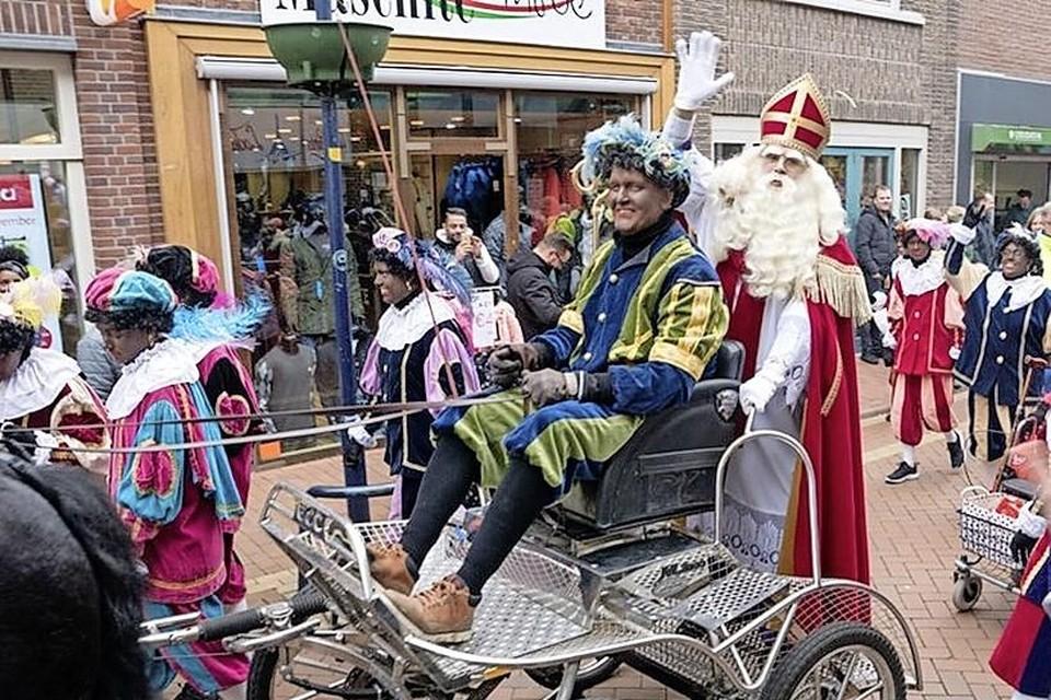Sinterklaas tijdens de intocht van dit jaar in Den Helder
