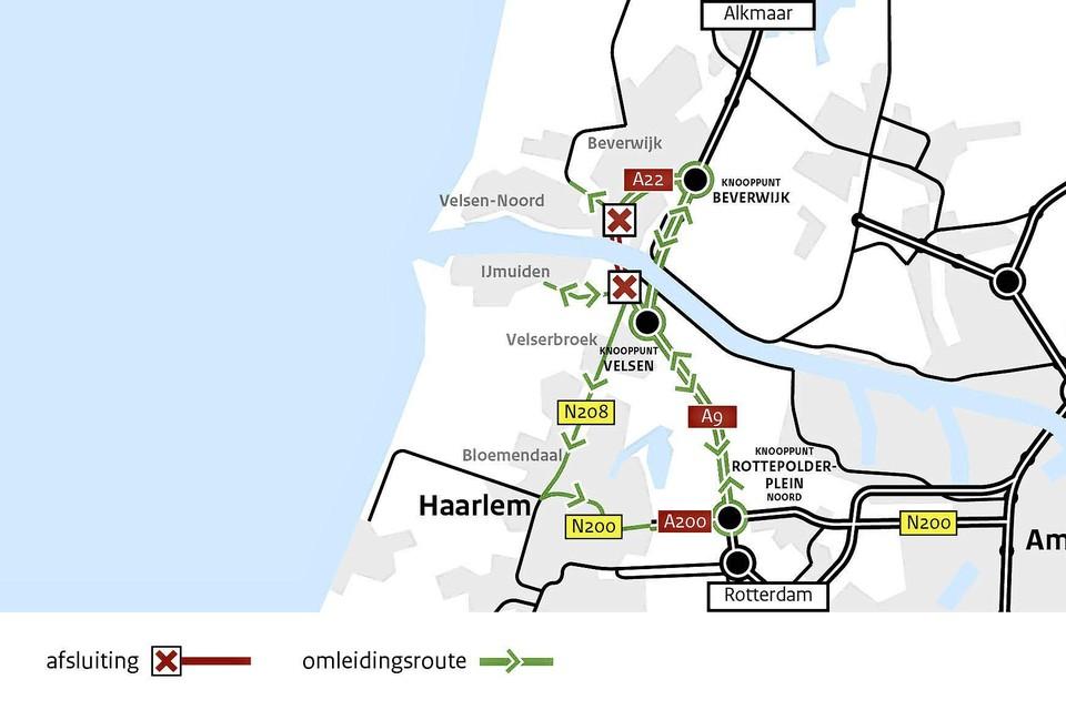 Met deze kaart hoopt Rijkswaterstaat meer duidelijkheid over de omleidingen te scheppen.