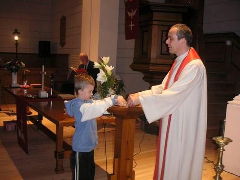 Metzger 25 jaar predikant bij de Lutherse gemeente in Bussum