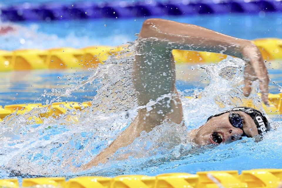 Bas Takken snelde in Tokio naar de tweede plaats op de 400 meter vrije slag.