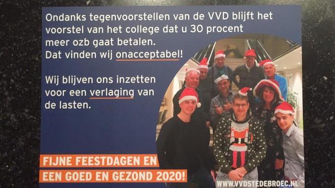 CDA Stede Broec: 'Kerstkaart VVD over ozb-verhoging schuurt aan tegen kiezersbedrog'
