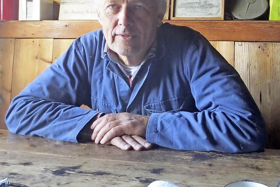 Arie Butterman, sinds 1972 molenaar op De Schoolmeester.