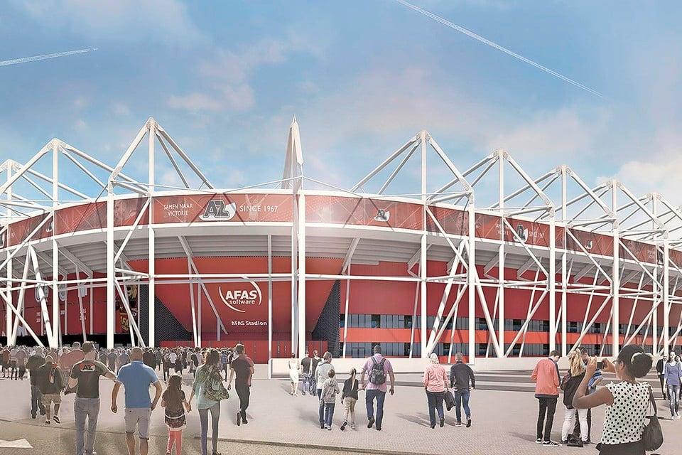 Een impressie van het nieuwe dak van het AZ-stadion.