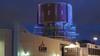 De restauratie van de watertoren bij het IJmuidense havengebied is aan de buitenkant (vrijwel) klaar. 'Het was een duiventil'