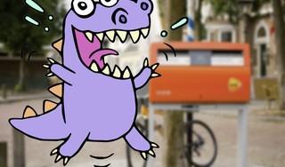 Ton Nagtegaal ziet enorme paarse krokodil bij de post